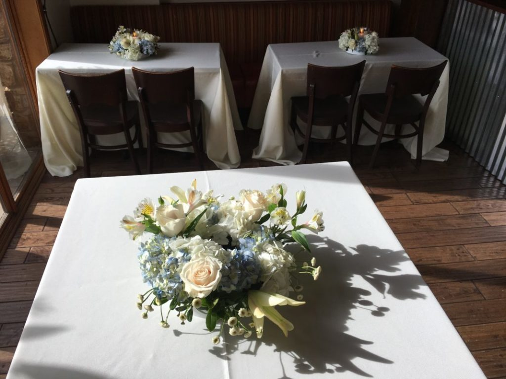 Incorporating your loved ones favorite flowers in arrangements throughout the Celebration of Life